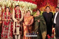 Kumar Bangarappa at SV Babu son Sanjay Babu marriage reception with Soundarya