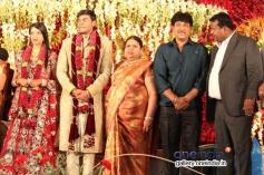 Kumar Govind at SV Babu son Sanjay Babu marriage reception with Soundarya