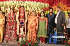 Prem Kumar at SV Babu son Sanjay Babu marriage reception with Soundarya