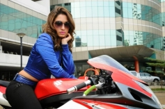 Tamanna Bhatia still on bike