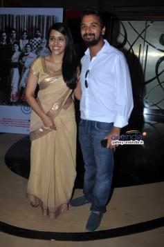 Taranjit Kaur and Namit Das at Ankhon Dekhi film trailer launch