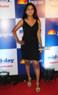 Usha Jadhav at Mid Day Newspaper's relaunch party