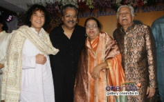 Ustad Zakir Hussain, Hariharan and Ustad Ghulam Mustafa Khan with wife at the 14th Vasantotsav