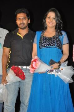 Vaibhav and Remya Nambeeshan at Damaal Dumeel audio launch