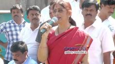 Verstalie Actress Bharti Vishnuvardhan Addressing the Gathering