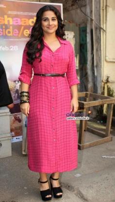 Vidya Balan during promotion of film Shaadi Ke Side Effects