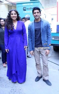 Vidya Balan and Farhan Akhtar on the sets of Nach Baliye 6