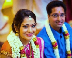 VJ Ramya and Ajith engagement still