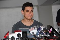 Aamir Khan addressing media on his 49th birthday bash
