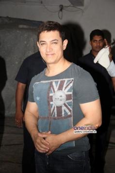 Aamir Khan on his 49th birthday bash