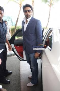 Abhishek Bachchan arrives at FICCI Frames 2014 - Day 2