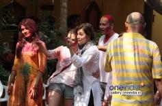 Aditi Rao Hydari and Dia Mirza at Shabana Azmi and Javed Akhtar's Holi celebration