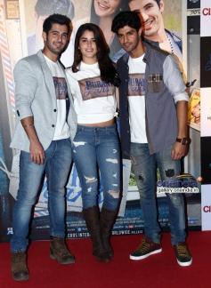 Aditya Seal, Izabelle Leite and Tanuj Virwani at Purani Jeans film trailer launch