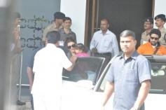 Aishwarya Rai with daughter Aaradhya and husband Abhishek Bachchan return from Holi celebration