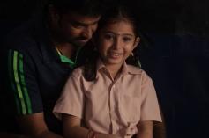 AL Vijay with Sara Arjun on the sets of Saivam