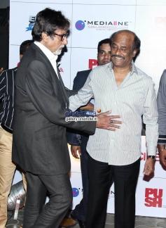Amitabh Bachchan with Rajinikanth at Kochadaiyaan Movie Launch