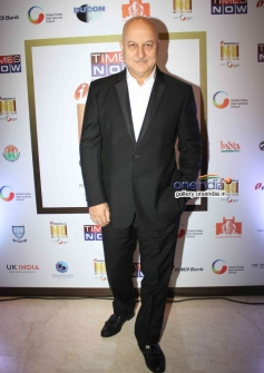Anupam Kher at the first edition of Times Now ICICI bank NRI of the year awards ceremony