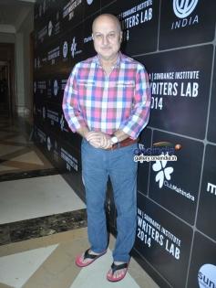 Anupam Kher at Third annual Mumbai Mantra Sundance Institute Screenwriters Lab 2014