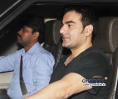 Arbaaz Khan arrives at O Teri film screening