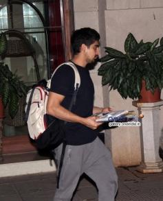 Ayan Mukerji snapped at Karan Johar's house