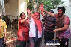 Bappi Lahiri celebrates Holi 2014