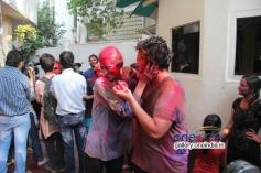 Bappi Lahiri's son celebrates Holi 2014