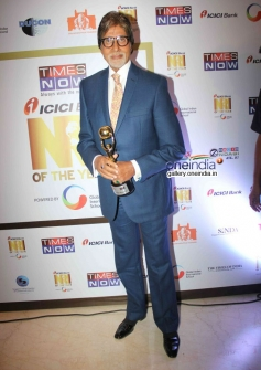 Big B at the first edition of Times Now ICICI bank NRI of the year awards ceremony
