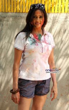 Brinda Parekh at Shabana Azmi and Javed Akhtar's Holi celebration