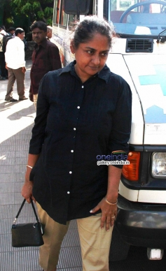Celebs at actress Nanda funeral