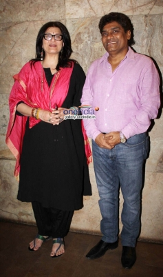 Sarika and Johnny Lever at Club 60 film special screening