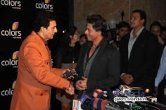 Shahrukh Khan welcomed at Colors channel party 2014