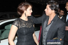Huma Qureshi with Shahrukh Khan at Colors channel party 2014
