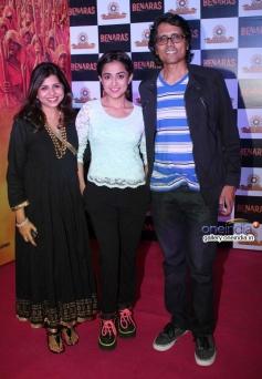 Nagesh Kuknoor with Monali Thakur at Gulaab Gang film screening