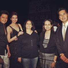 Ritesh, Genelia and Dino Morea at Karishma Tanna's birthday bash 2014