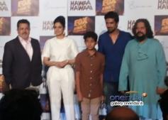 Sridevi Kapoor, Partho Gupte, Saqib Saleem and Amole Gupte at the Hawaa Hawaai film trailer launch