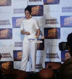Sridevi Kapoor poses at the Hawaa Hawaai film trailer launch