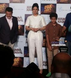 Sridevi Kapoor with Partho Gupte at the Hawaa Hawaai film trailer launch