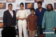 Sridevi Kapoor, Partho Gupte, Saqib Saleem and Amile Gupte at the Hawaa Hawaai film trailer launch