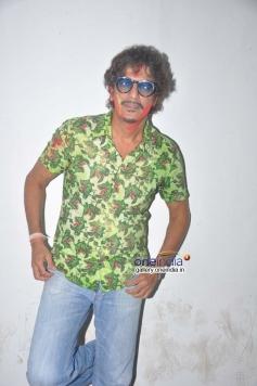 Chunky Pandey celebrates Holi at Mehboob Studio