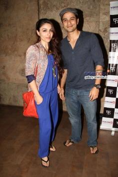 Soha Ali Khan with boyfriend Kunal Khemu at special screening of Queen