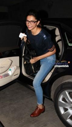 Deepika Padukone arrive at special screening of Queen