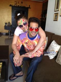 Deepshikha Nagpal and Keshav Arora's Holi celebration