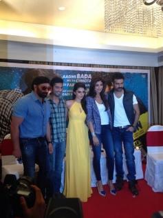Dishkiyaoon film stars at a press conference in Mumbai