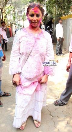 Divya Dutta at Shabana Azmi and Javed Akhtar's Holi celebration