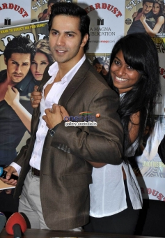 Fan with Varun Dhawan at Stardust Magazine Lunch