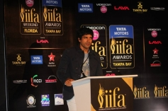 Farhan Akhtar addressing at IIFA 2014 Press Conference