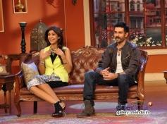 Harman Baweja and Shilpa Shetty promote Dishkiyaoon on the sets of Comedy Nights with Kapil