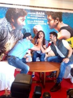 Harman, Shilpa and Sunny Deol at Dishkiyaoon film press conference