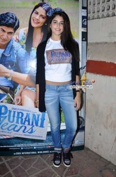 Izabelle Leite during the promotion of her film Purani Jeans at Thadomal College