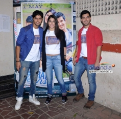 Izabelle Leite, Tanuj Virwani and Aditya Seal promote their film Purani Jeans